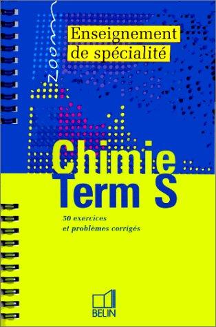 L'enseignement de spécialité en chimie, terminale S