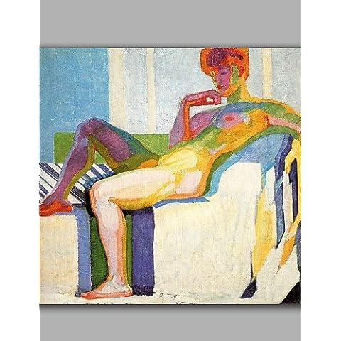 OFLADYH ® donne nude con saziare stile sexy sul letto arte moderna bel muro incorniciate , with frame-20