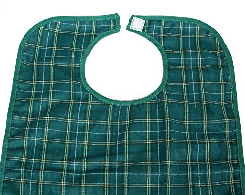 PREMIUM EssSchürze / EssLätzchen grün (feuchtigkeitsundurchlässig) Bekleidungsschutz für Erwachsene