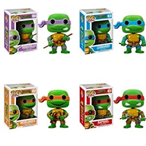 Funko PoP Teenage Mutant Ninja Turtles Figure Set Of 4 Raphael Leonardo Donatello Michelangelo by FunKo