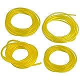 MagiDeal 4 Füße Ersatz Benzin Kraftstoffschlauch 4 Größen Gelbe Schlauch Gasleitung