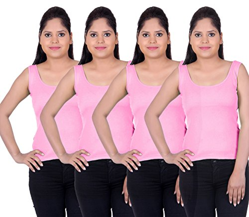 LIENZ Women Camisole Tank Top Pink Color - Pack of 4