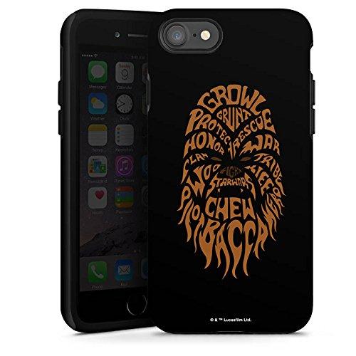Apple iPhone X Silikon Hülle Case Schutzhülle Star Wars Merchandise Fanartikel Chewbacca Typo Tough Case glänzend