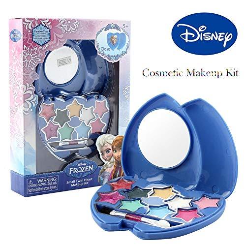Wonderfulrita Disney Frozen Princess Make-up-Set Spielzeug, Kosmetik-Spielzeug-Set Echt waschbar, sicher und ungiftig für Mädchen, die so tun, als würden sie kosmetische Spielen (Disney Frozen Make Up)