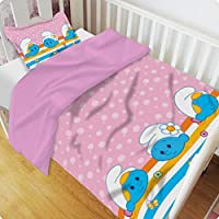 The Smurfs 2 Piece Comforter and Pillow Set, Pink(83x103cm)