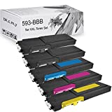 LABT Toner kompatibel zu Dell C2660 dn / C2665 dnf | 5er Tonerset schwarz/ black, blau/ cyan, rot/ magenta, gelb/ yellow