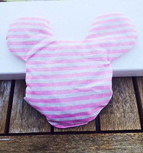 Coussin noyau de cerise Mickey en différentes couleurs, superbe cadeau de naissance, baptême