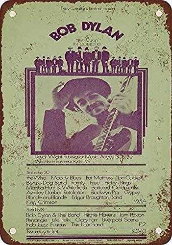 Taco Thursday Bob Dylan en Isla de Wight Pintura de Hierro Cartel de Metal Vintage Cartel de Chapa Cartel de Pared Placa para hogar Dormitorio Garaje Dormitorio Cafetería