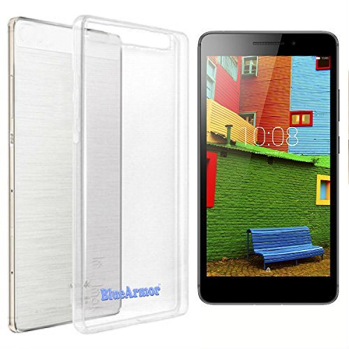 BlueArmor Soft Silicone Back Cover Case For Lenovo PHAB PLUS PB1-770M - Transparent