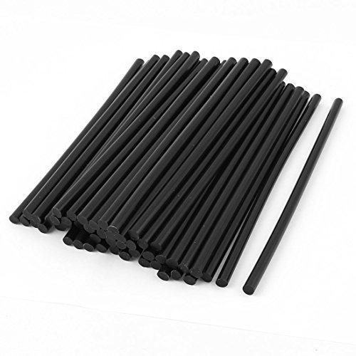 50 Pcs 7mm Diamètre 190mm Longueur Fer à souder Noir Hot Melt bâton de Colle, Modèle:, Outils & Quincaillerie