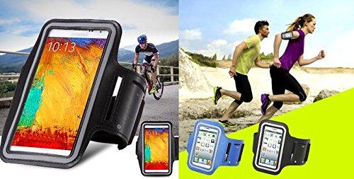 Sport Armband Sports Case für Huawei Ascend G7, Huawei Ascend Mate, Huawei Ascend Mate 2 4G, Huawei Ascend Mate7 Sportarmband Tasche Sport Schutzhülle Farbe Schwarz Grau Color Black Grey Negro XXXL