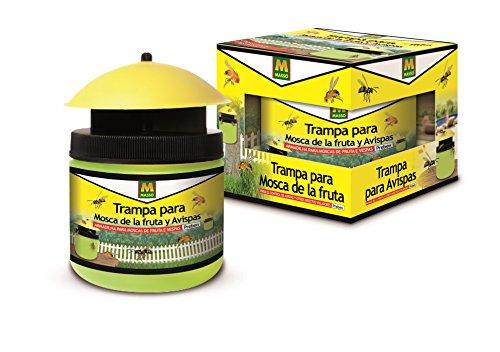 Preben 231402 - Trampa mosca de la fruta y avispas, 13.2 x 10.5 x 12.8 cm, color amarillo
