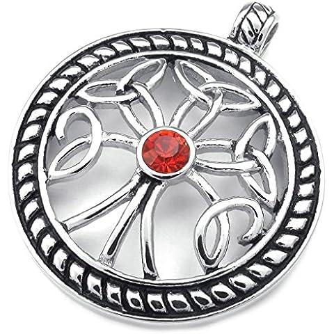 AnaZoz Joyería de Moda Acero Inoxidable Cadenas Collar Colgante Para Mujer Hombre Celtic Knot Árbol de Vida CZ 18-26