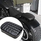 Motorradsitz Notsitz Sitz Sozius Pad Sitzpad Sitzkissen Passenger Seat Motorradsitz mit 6 oder 8 Saugnapf für Harley XL883 1200 X 48 72