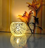 #10: Lalhaveli Home Decoration Votive Tea Light Silver Candle Holder For Diwali 3 X 4 Inches (Candle Included)