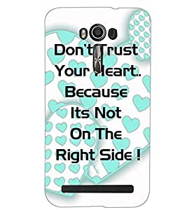 ASUS ZENFONE 2 LASER ZE550KL TEXT Back Cover by PRINTSWAG