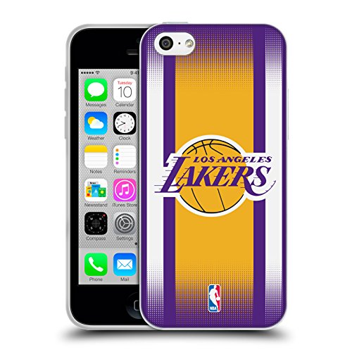Ufficiale NBA Camouflage Digitale Los Angeles Lakers Cover Morbida In Gel Per Apple iPhone 6 / 6s Gradiente Mezzotono