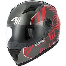 Astone Helmets gt2g-predator-brxs casco Moto Integral GT, negro/rojo, talla XS