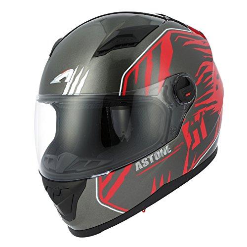 Astone Helmets gt2g-predator-brs casco Moto Integral GT, negro/rojo, talla S