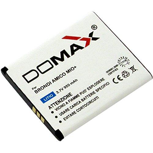batteria domax per brondi amico mio+ (plus) (verificare misure 51x43x4,5mm)