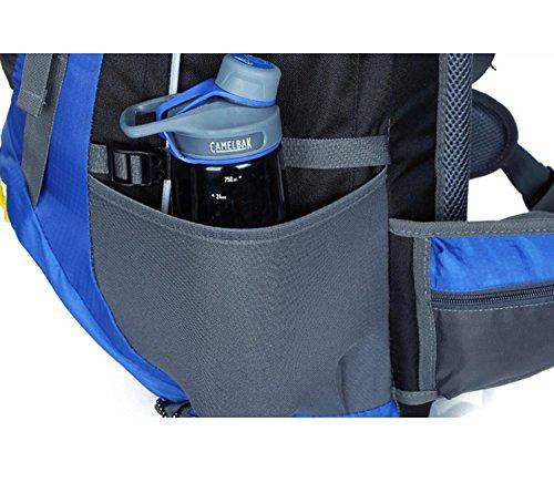 HWJF Großer im Freien Rucksack wasserdichte Klettertasche Freizeit Computer Reisebeutel 65 + 5L Blue