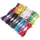 10m de fil cordon en Coton ciré 1.0mm pour bracelet collier sautoir plusieurs couleurs
