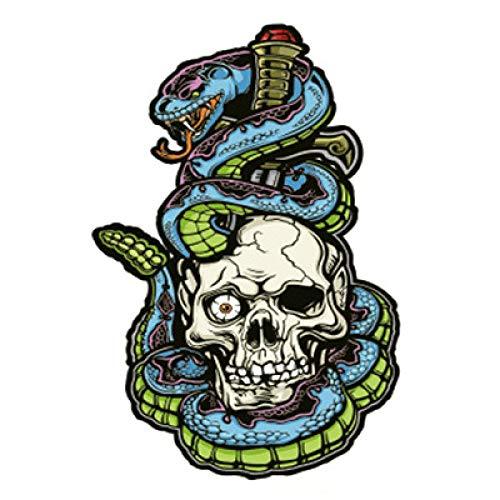 tzxdbh 5 Stücke-Neue Blume Arm Tattoo Aufkleber Mode Halben Arm Arm Pan Lange Einhorn Cobra Tod wasserdichte Tattoo Aufkleber HB-204 148 * 210 MM