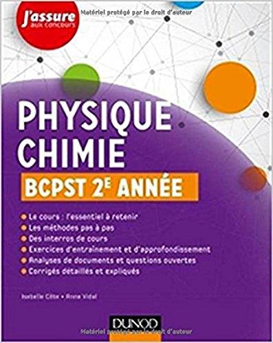 Physique-Chimie BCPST 2e année par Isabelle Côte