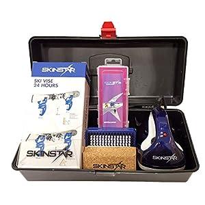SkinStar Skipflege Skiwachs-Set Professional Skispanner Wachseisen Wachs inkl. Wachskoffer 7-teilig