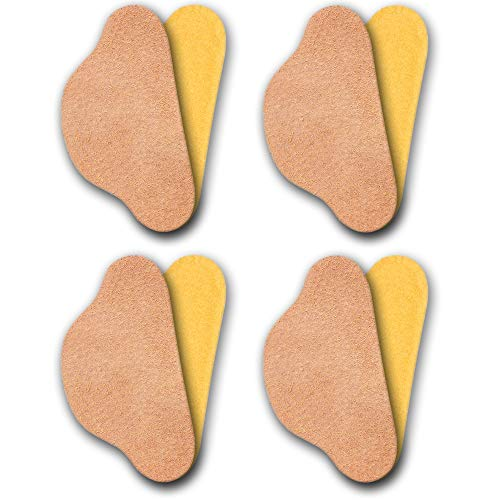 Omniskus 4 Paare Leder Fersenschutz Fersenhalter Fersenkissen Fersenpolster Reparatur Schuhe (Beige)