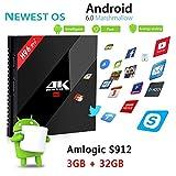 Set-Top Box Inteligente H96 Pro + Android 6.0 Más S912 TV Box 3G32G HD 4KHD1000M Reproductor Bluetooth Red Gigabit WiFi 2.4GHZ 5.8GHZ, TF, Disco U Tarjeta SD Flash Flash Bluetooth 4.1