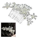 Miracle 1 meraviglioso pettinino con fiori e foglie in perle e strass, per sposa/matrimonio