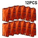 12pcs Petos de Entrenamiento Petos de Fútbol para Adultos ( Color : Naranja )
