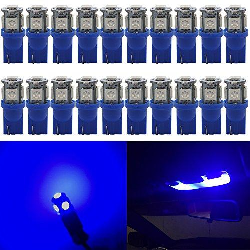 LED-Leuchtmittel für KFZ-Innenbeleuchtung, T10,24V, 5SMD 5050Chipsatz,  W5W 1681751582825, für Armaturenbrett, Kofferraum, Kennzeichenbeleuchtung,20Stück, Blau,194