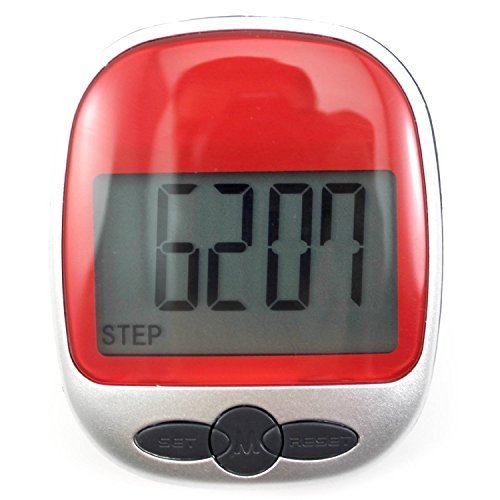 JUNGEN Multi-función bolsillo podómetro contador de paso LED pantalla, color al azar