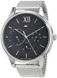 Tommy Hilfiger Herren Multi Zifferblatt Quarz Uhr mit Edelstahl Armband 1791415