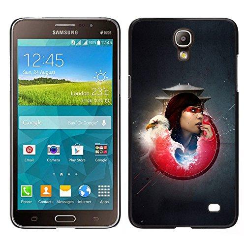 MDMG / Snap On Hartschalen-Case Schutzhülle Hülle - Weißkopfseeadler-Samurai Girl - Samsung Galaxy Mega 2