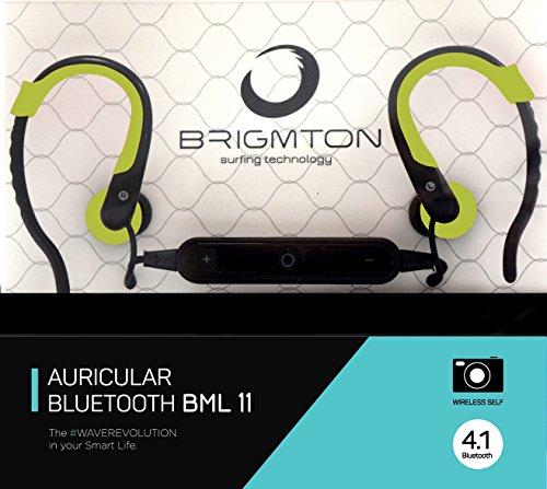 Silikonhülle BML 11Ohrhörer Headset Bluetooth Schwarz, grün Kopfhörer und Micro–Headsets und Tonabnehmer (Headset, Ohrhörer, Schwarz, grün, Digital, Kontrolle Online, EG)