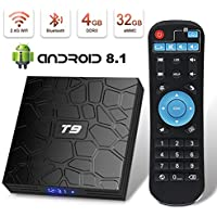 Android 8.1 TV Box Superpow T9 4GB RAM 32GB ROM RK3328 Quad-core Support 4K Full HD 2.4Ghz Wi-Fi BT 4.1 USB 3.0 H.265 Smart TV Box