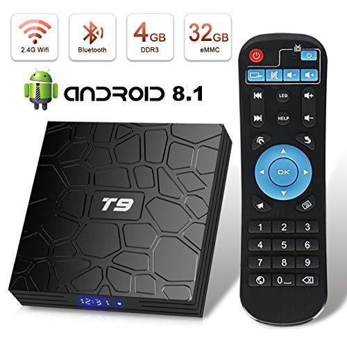 Android 8 1 TV Box Superpow T9 4GB RAM 32GB ROM RK3328 Quad-core Support 4K  Full HD 2 4Ghz Wi-Fi BT 4 1 USB 3 0 H 265 Smart TV Box