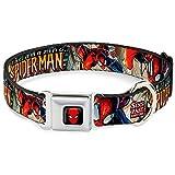 Buckle Down 22,9–38,1cm spda-Spider-Man Face Full Color Hund Halsband