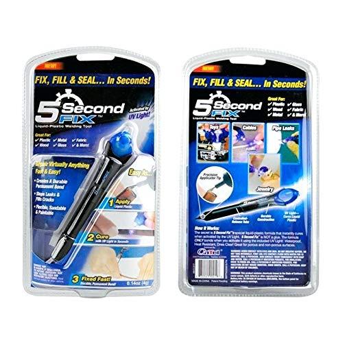Flüssigglas-Füller, für tiefe Kratzer, Reparaturflüssigkeit, klar, UV-Klebstoff, schnelle Reparatur, Füller für Glas, Glas, Plexiglas, Kunststoff, Fliesen, Kratzer, Stift
