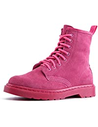 XIA Martin Boots Retro Thickening Keep Warm British Style Zapatos de mujer al aire libre ( Color : Pink-thin , Tamaño : EU36/UK3.5/CN35 )