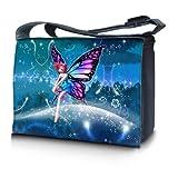 Luxburg® design sacoche sac de messager à bandoulière pour ordinateur portable Notebook 17,3 pouces, motif: Être fabuleux fée