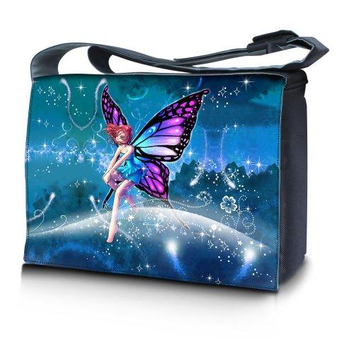 Luxburg® design sac en bandoulière sacoche sac collège daily bag 15,6 pouces, motif: Être fabuleux fée