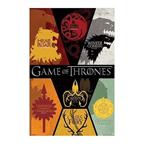 Poster Gigante Juego de Tronos Emblemas