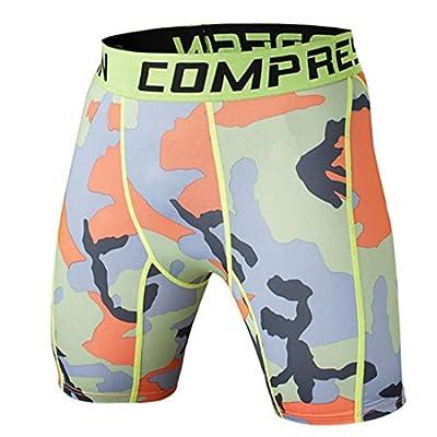 Vertvie Kompressionsshort Boxer Fitness Hose Slim Fit Printed Base Layer hose kurz Compression Shorts