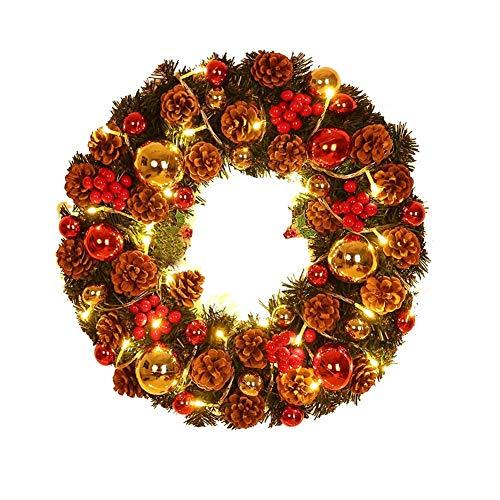 Herbst Kränze Herbstkranz Herbst Deko KranzGirlanden Pinecone Weihnachtsdekoration - Wanddeko selbst gemacht für Weihnachten Halloween Thanksgiving Heim Fenster Party Dekor,30CM / 45CM