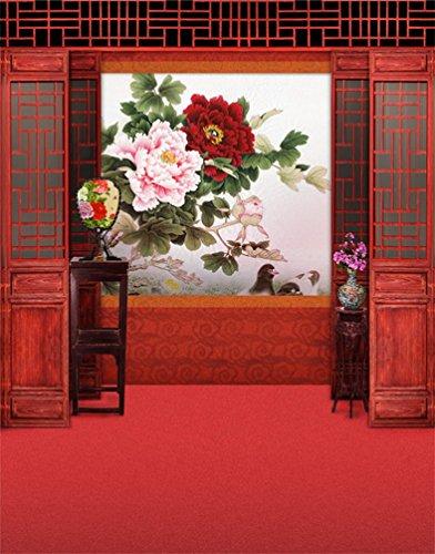 ebe Vinyl Rote Chinesische Lunar Neue Jahr Frühlingsfestival Thema Partei Wand Dekorationen Wandbild Fotografie Hintergründe (Chinese New Year Dekoration Zubehör)