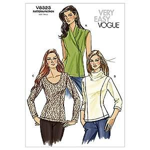 Vogue v8323 cartamodelli per top da donna taglie bb 8 for Top cucina amazon